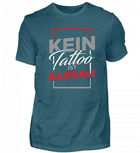 Galeriemode Tattoo ist Illegal Hochwertiges Herren Shirt –