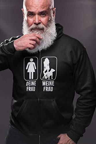 Galeriemode Hund – Deine Frau Meine Frau Unisex Kapuzenpullover Hoodie Fun Geschenk für Mann Freund
