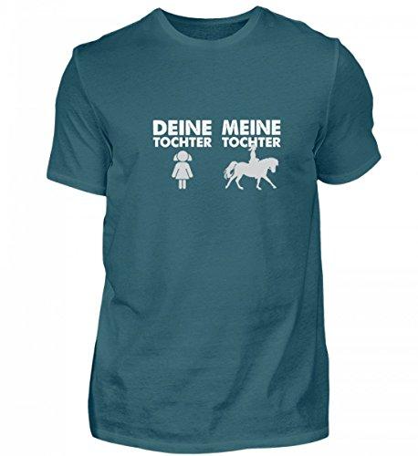 Deine Tochter Meine Tochter Pferd Reiten Mädchen – Herren Shirt