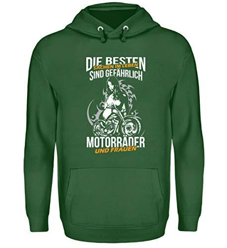 Motorräder und Frauen Die besten Sachen im Leben sind gefährlich – Unisex Kapuzenpullover Hoodie