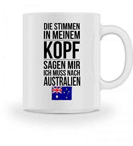 Galeriemode Lustige Tasse mit Spruch Ich muss nach Australien Geschenk für Mama Papa Chef Kollegen