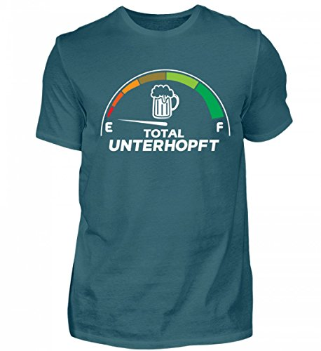 Galeriemode Total Unterhopft JGA Junggesellenabschied Alkohol Hochwertiges Herren Shirt –