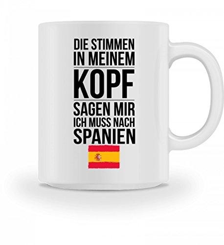Galeriemode Lustige Tasse mit Spruch Ich muss nach Spanien Geschenk für Mama Papa Chef Kollege