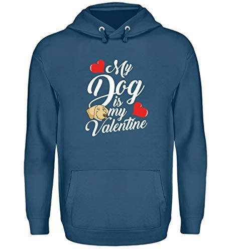 Galeriemode My Dog is My Valentine Unisex Kapuzenpullover Hoodie