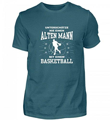 Unterschätze Nie Einen Alten Mann mit Einem Basketball – Herren Shirt