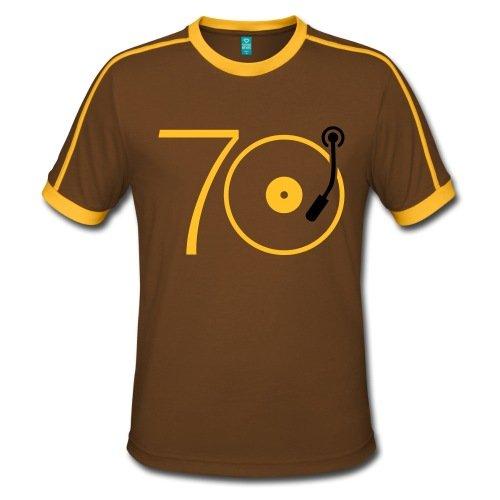 Spreadshirt Musik Der 70er Platte Retro Männer Retro-T-Shirt
