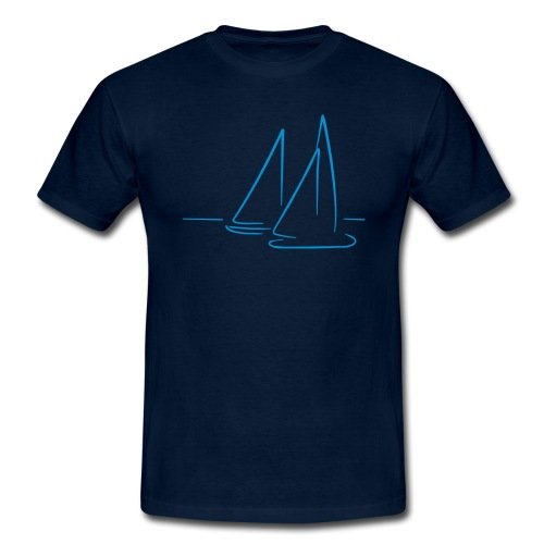 Spreadshirt Segeln Segelboote Meer Männer T-Shirt
