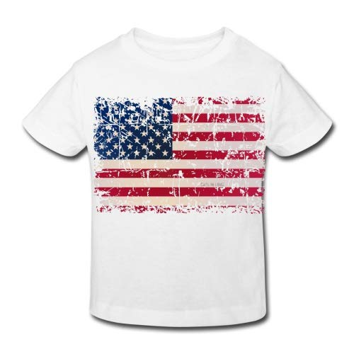 Spreadshirt USA Flagge Used Look Star Spangled Banner Kinder Bio-T-Shirt