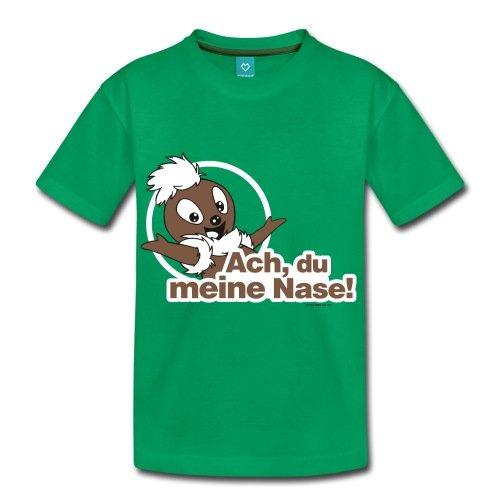 Spreadshirt Sandmännchen Pittiplatsch ACH Du Meine Nase Kinder Premium T-Shirt