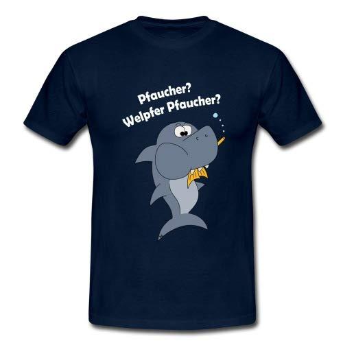 Spreadshirt Taucher Lustig Tauchen Fisch Pfaucher Witziges Männer T-Shirt