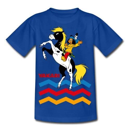 Spreadshirt Yakari Indianer Reitet Auf Pferd Kleiner Donner Kinder T-Shirt
