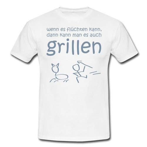 Spreadshirt Wenn Es Flüchten Kann Lustiger Grill Spruch Männer T-Shirt