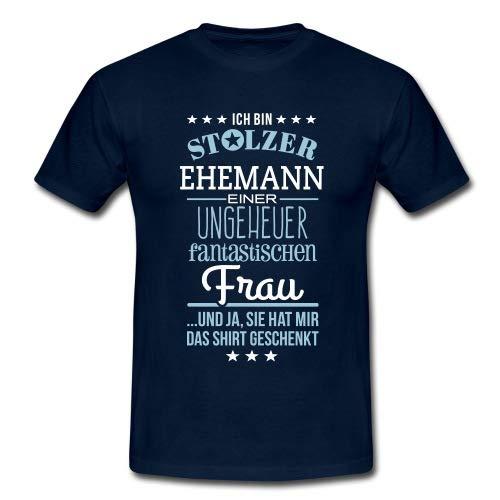 Spreadshirt Stolzer Ehemann Einer Fantastischen Frau Männer T-Shirt