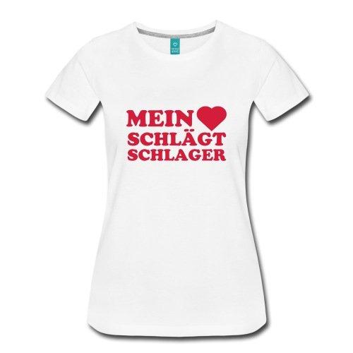 Spreadshirt Mein Herz Schlägt Schlager Schlagermusik Frauen Premium T-Shirt