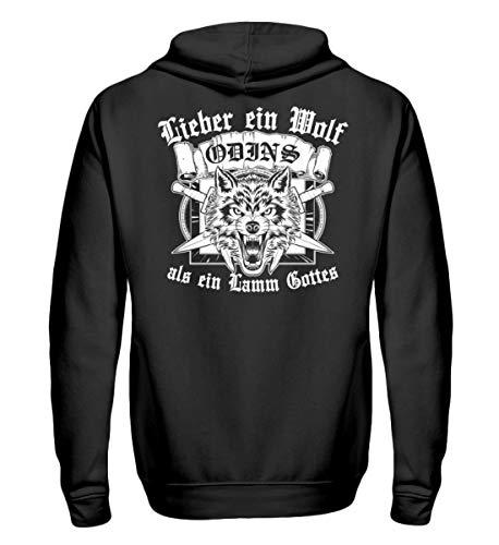 PlimPlom Lieber EIN Wolf Odins ALS EIN Lamm Gottes Wikinger Vikings Walhalla Germanen Pullover – Unisex Kapuzenpullover Hoodie