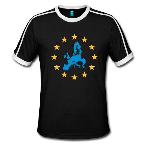 Spreadshirt Europa mit Sternen Männer Retro-T-Shirt