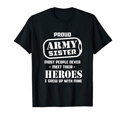 Stolze Armee-Schwester – Stolz-Militärschwester I wuchs auf T-Shirt
