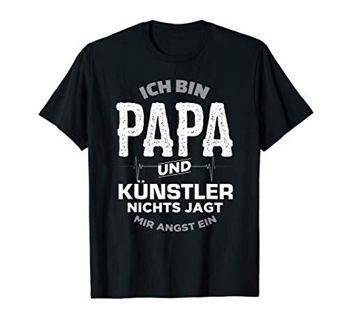 Herren Papa und Künstler T Shirt Geschenk für Mann Freund