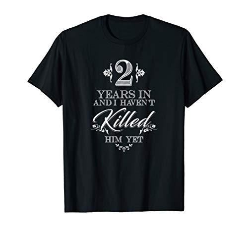 2. Hochzeitstag Geschenke für ihr 2. Jahr T-Shirt