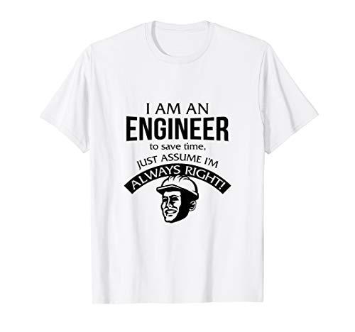 Lustiger Ingenieur um Zeit zu sparen einfach annehmen T-Shirt
