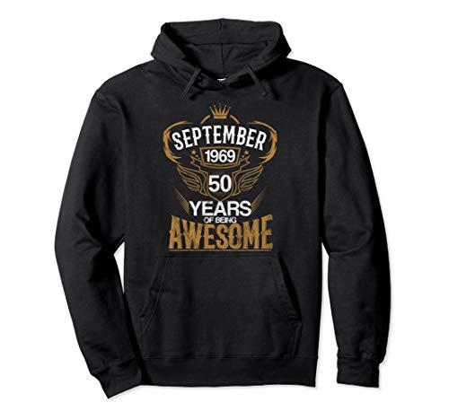 Geboren im 50. September Jahre 1969 Pullover Hoodie