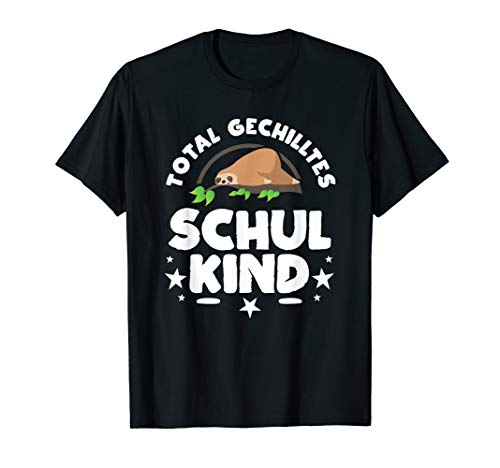 Total gechilltes Schul Kind lustiges Faultier T Shirt
