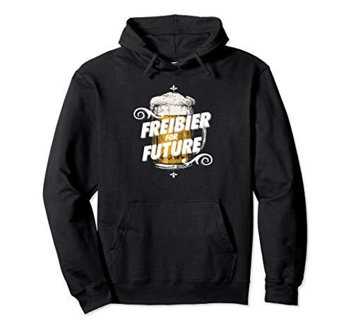 Freibier For Future Bier Sprüche Pullover Hoodie