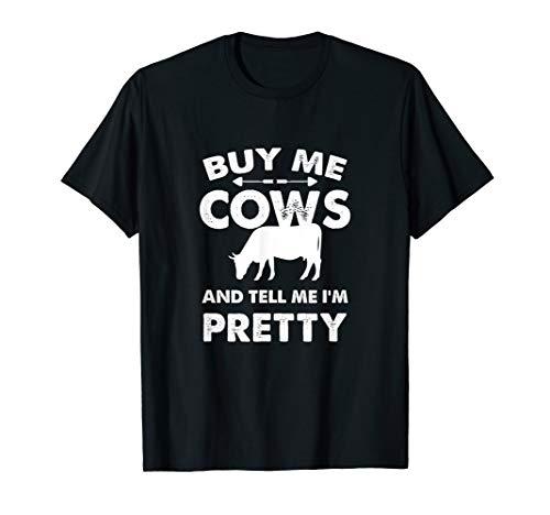 Gerade ein Mädchen, das Kuh-Liebhaber-Bauernhof T-Shirt